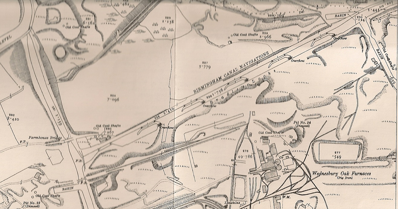 First Series Ordnance Survey Map of the Bradley Arm