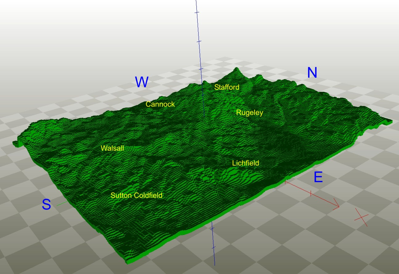 3D Relief Model of the proposed Biosphere Reserve