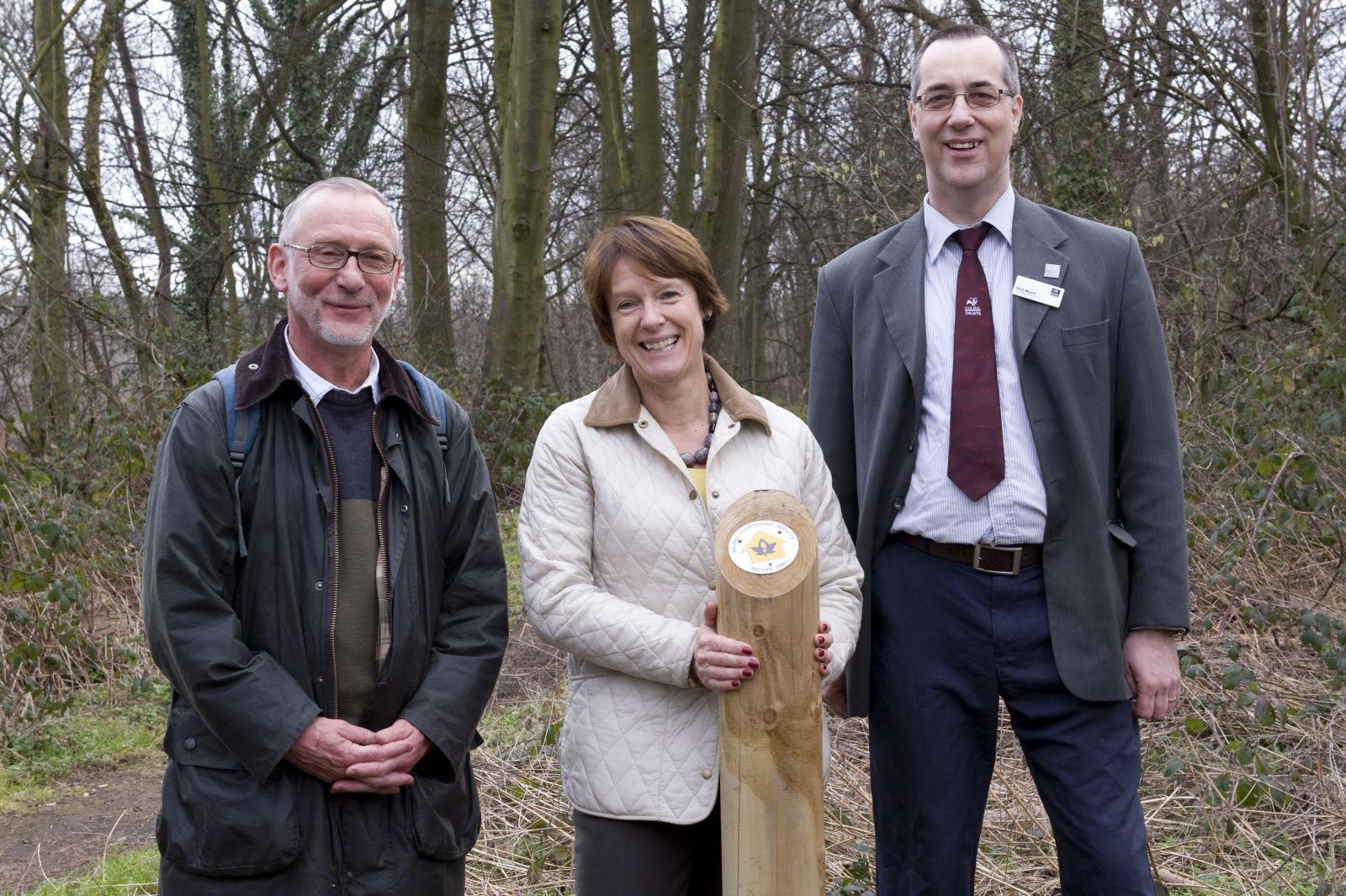 John Lawton, Caroline Spelman, Neil Wyatt at the launch of teh Birmingham and Black Country Nature Improvement Area